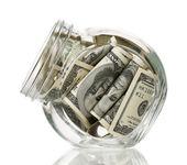 денежная фляга — Стоковое фото