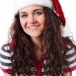 Girl in Santa hat — Stock Photo