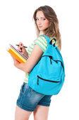 Fille avec sac à dos — Photo