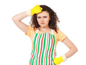 Young housewife — Stock Photo