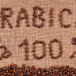 Text of coffee beans — Stock Photo