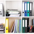 Folders on shelves — Foto de Stock