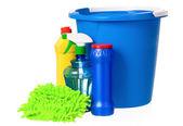 Blue bucket — Stockfoto