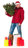Man in winter clothing — Stock Photo