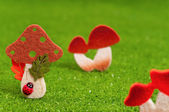 Konstgjorda svampar — Stockfoto