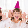 Little girls at birthday party — Stock Photo #39934703