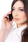 Business woman phone talking — Stock Photo