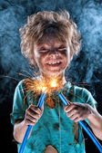 Little electrician — Stock Photo