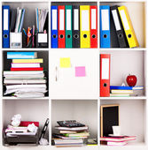 Folders on shelves — Stock Photo