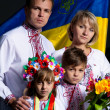 Ukrainian family — Stock Photo #42340223