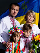 Ukrainian family — Foto de Stock