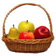 Fruits in basketb — Stock Photo