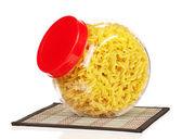 Pasta in vaso di vetro — Foto Stock