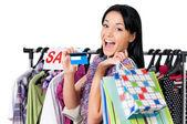 Woman shopping — Stock Photo