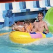 Father and son in aqua park — Stock Photo #44581181