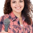 Young woman reporter — Stock Photo