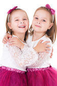 Happy twins — Stock Photo