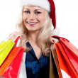 Christmas woman with shopping bags — Stock Photo #6759861