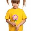 Girl with flower — Stock Photo #9963451