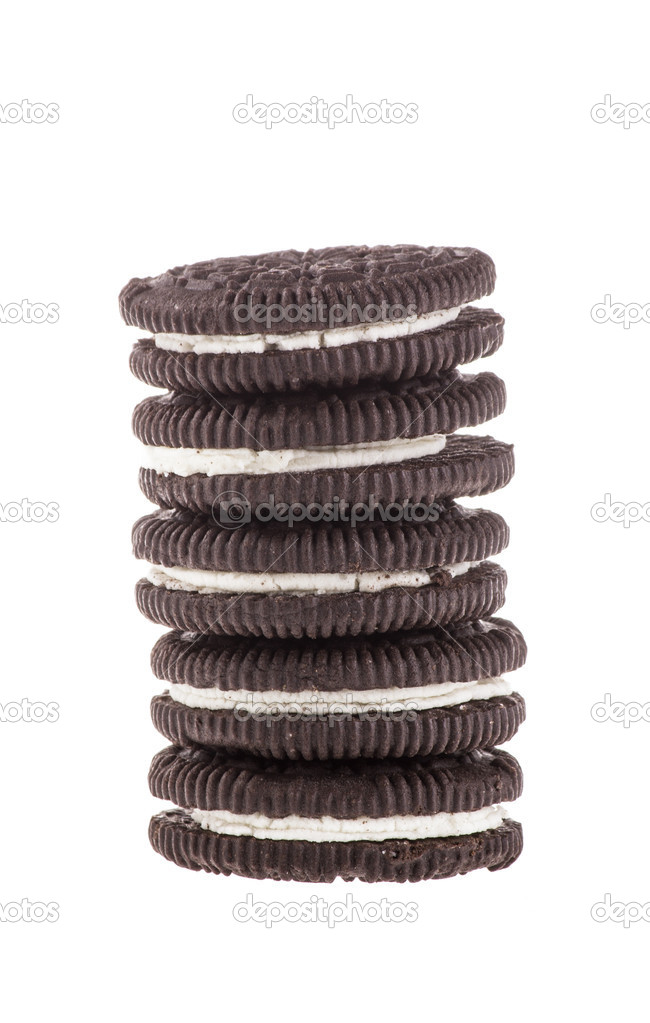 Chocolate cookies with creme filing — Stock Photo #16847647