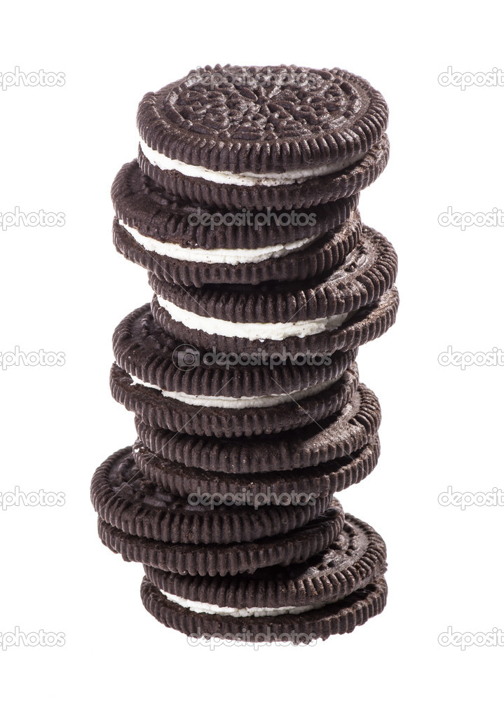 Chocolate cookies with creme filing — Stock Photo #16847683