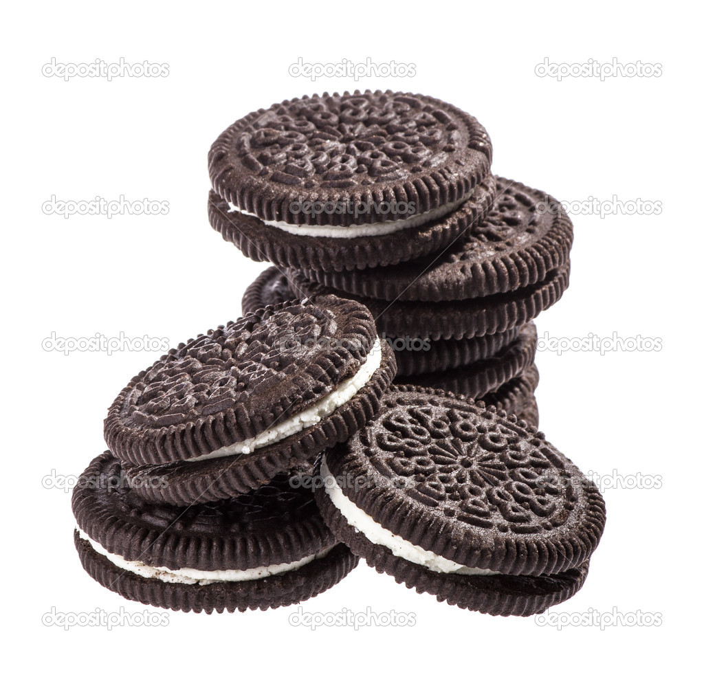 Chocolate cookies with creme filing — Stock Photo #16847687