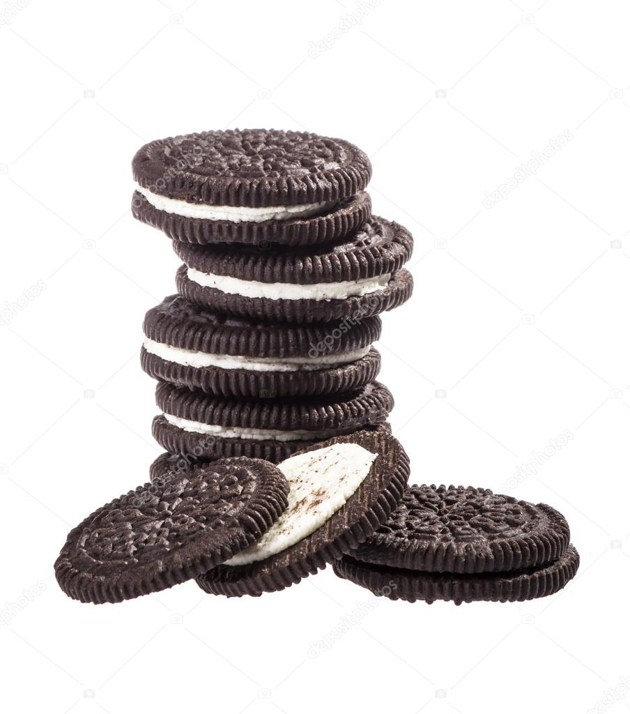 Chocolate cookies with creme filing — Stock Photo #16847709
