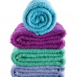 Постер, плакат: Bath towel isolated on white background