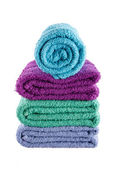 Bath towel isolated on white background — Stock Photo