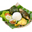 Stock Photo: Indonesispecial fish dish, Ikan, on background