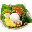 Indonesian special fish dish, Ikan, on background - Stock Photo