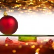 Red Christmas balls on background — Stock Photo #23937039