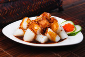 Chee Cheong Fun. rice noodle roll — Stock Photo