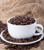 Black roasted coffee beans — Stock Photo