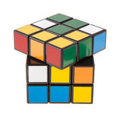 Color cube puzzle — Stock Photo
