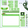 Stok Vektör: Elements for eco friendly web design. Green set