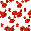 Seamless pattern of red roses on a white background — Stock Vector #12124449