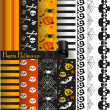 Happy Halloween vector paper and lace for scrapbook - Imagen vectorial
