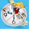 End of the working day — Stock Vector