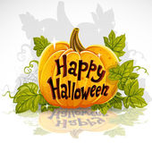 Happy Halloween cut out pumpkin banner — Stock Vector