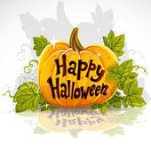 Happy Halloween cut out pumpkin banner — Stock Vector