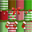 Big collection of vector Christmas backgrounds and elements for design — Stock Vector #13975710