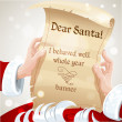 Vector de stock : Dear SantI behaved well whole year - letter