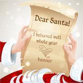 Dear santa me he portado bien todo el año - carta — Vector de stock