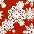Stock Vector: Applique snowflakes Christmas seamless background easy editable color background