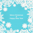 Applique snowflake Christmas frame for your text — Stock Vector