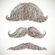 Retro mustache set 3 — Stock Vector