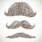 Retro mustache set 3 — Vecteur