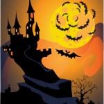 Halloween castle — Stock Vector #1461500