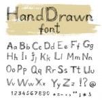 Handwriten by gel pen doodle font for your design — Stock Vector #16204615